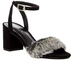 Charles by Charles David Kandy Faux Fur Block Heel Sandal