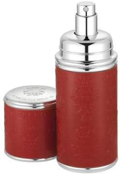 Creed Refillable Leather & Silvertone Pocket Atomizer/Red