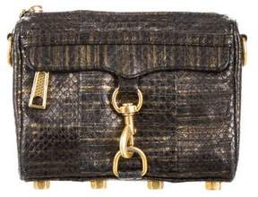 Rebecca Minkoff Snakeskin Mini M.A.C. Crossbody Bag - BLACK - STYLE