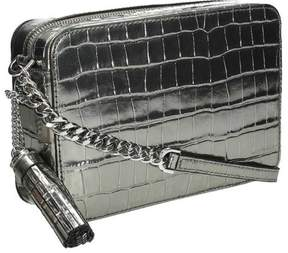 Michael Kors Ginny Metallic Embossed-Leather - Crossbody - Gunmetal - 32F7MGNM2K-041 - ONE COLOR - STYLE