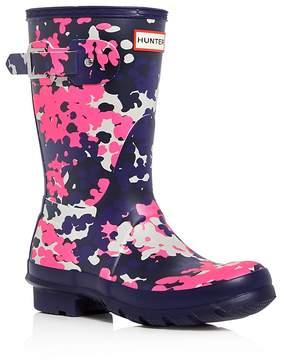 Hunter Women's Original Short Flecktarn Camo Matte Rain Boots