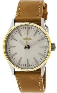Nixon Men's Sentry 38 A3772548 Brown Leather Quartz Fashion Watch