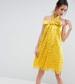 Asos Tall TALL SALON Aline Lace Mini Dress with Bow Detail