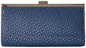 Jessica McClintock Laura Perforated Framed Clutch Clutch Handbags