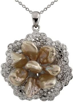 Bella Pearl Sterling Silver Keshi Pearl Pendant