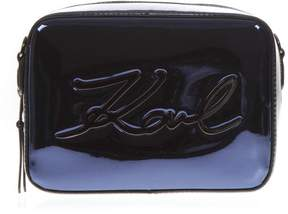 Karl Lagerfeld Mixed Laminated Fabric Logo Small Bag