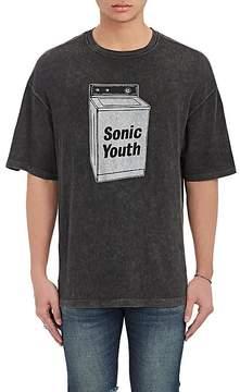 R 13 Men's Band-Graphic Cotton-Blend Oversized T-Shirt