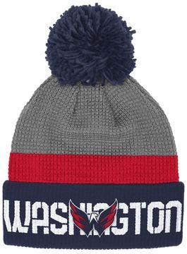 Reebok Adult Washington Capitals Cuffed Pom Knit Hat