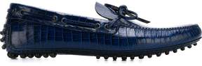 Car Shoe croc effect boat shoes