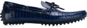 Car Shoe croc effect boat shoes