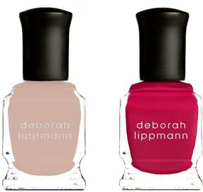 Deborah Lippmann Nail Lacquer - Strawberry Field and Naked Duet