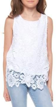 Dex Girl's Sleeveless Crochet Top