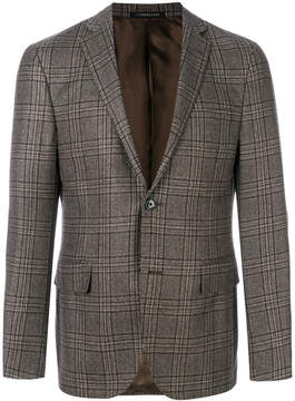 Corneliani glen check blazer