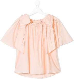 Chloé Kids bow shouldered blouse