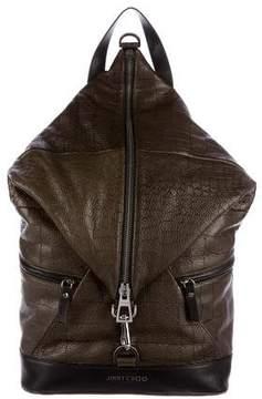 Jimmy Choo Fitzroy Embossed Backpack w/ Tags