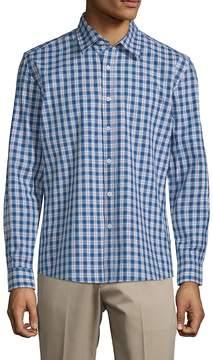 Hyden Yoo Men's Plaid Slim-Fit Cotton Button-Down Shirt