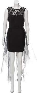 Flavio Castellani Lace-Accented Mini Dress