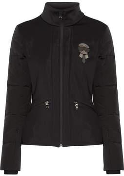 Fendi Karlito Embellished Quilted Down Ski Jacket - Black