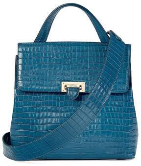 Aspinal of London Soho Backpack In Deep Shine Topaz Small Croc