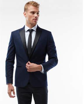 Express slim navy paisley tuxedo jacket