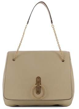 Mulberry Women's Beige Leather Shoulder Bag.