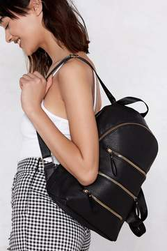 Nasty Gal WANT Three Times the Charm Zip Backpack