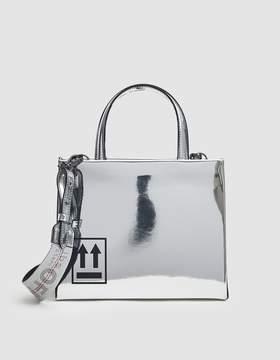 Off-White Off White Mini Mirror Bag in Silver