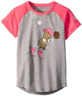 Under Armour Kids Outfielder Peanut Short Sleeve Tee Girl's Clothing