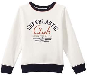 Petit Bateau Boy's cotton fleece sweatshirt