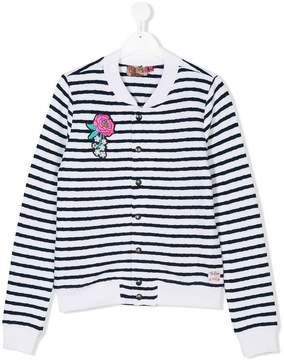 Vingino Teen appliquéd striped bomber jacket