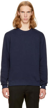 MSGM Navy Back Logo Sweatshirt