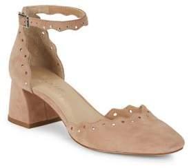 424 Fifth Brandi Embellished Leather Block Heels