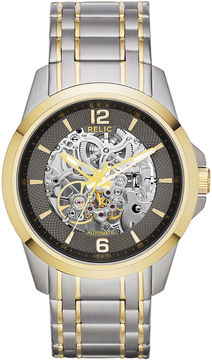 JCPenney RELIC Relic Mens Two-Tone Stainless Steel Automatic Watch ZR12109