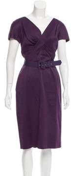 Christian Dior Belted Midi Dress