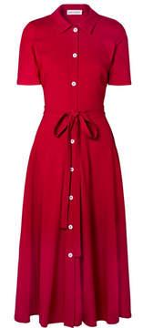 Mansur Gavriel Belted Crepe Shirt Dress - Red