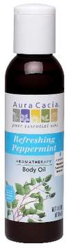 Aura Cacia Refreshing Peppermint Aromatherapy Body Oil - 4 oz