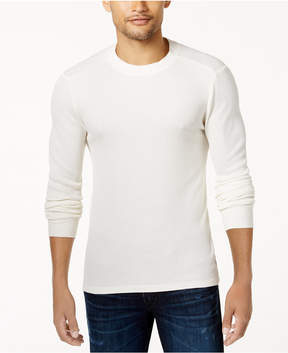 GUESS Men's Waffle-Knit Graphic Print Sweater