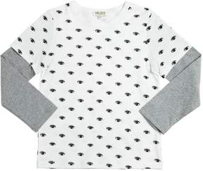 Kenzo Eyes Printed Cotton Jersey T-Shirt