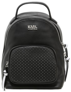 Karl Lagerfeld Super Mini Leather Backpack