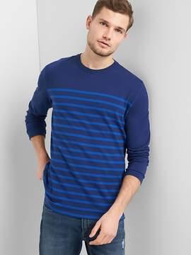 Gap Stripe Crewneck Long Sleeve T-Shirt in Heavyweight Knit