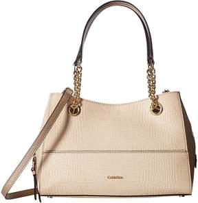 Calvin Klein Novelty Pebble Chain Satchel Satchel Handbags