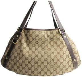 Gucci GG leather handbag - BROWN - STYLE