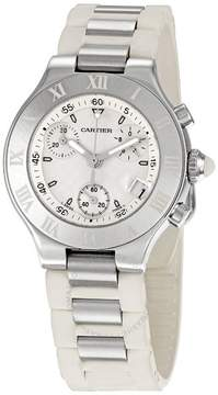 Cartier 21 Chronoscaph Silver Dial Unisex Watch