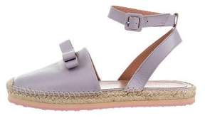 RED Valentino Leather Espadrille Flats