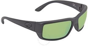 Costa del Mar Fantail Medium Fit Green Mirror 580P Polarized Rectangular Sunglasses