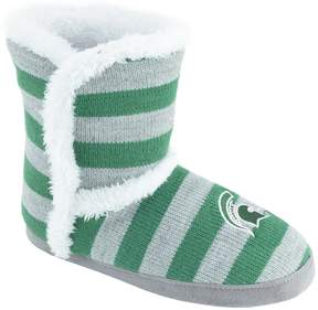 NCAA Women's Michigan State Spartans Striped Boot Slippers