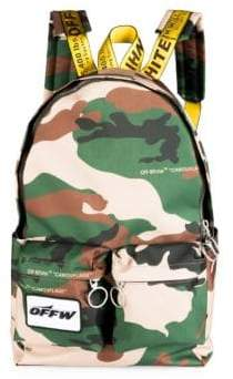 Off-White Camouflage Textured Backpack
