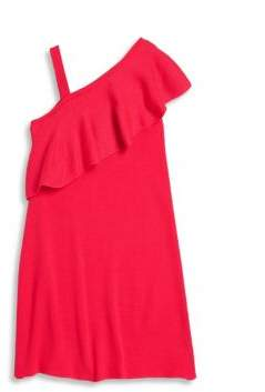 Milly Minis Girl's One Shoulder Ruffle Dress