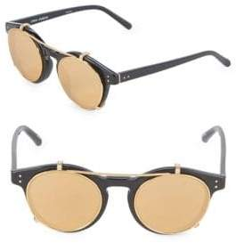 Linda Farrow 47MM Oval Clip-On Sunglasses