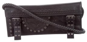 Saint Laurent Grommet-Embellished Shoulder Bag - BLACK - STYLE